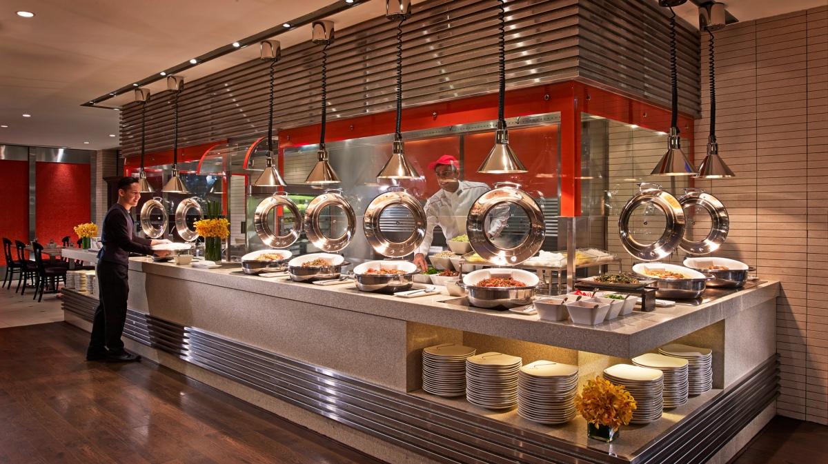 Asian cuisine spread at International buffet breakfast in award-winning Carousel..jpg